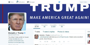 Republican candidate Twitter comparison - Trump