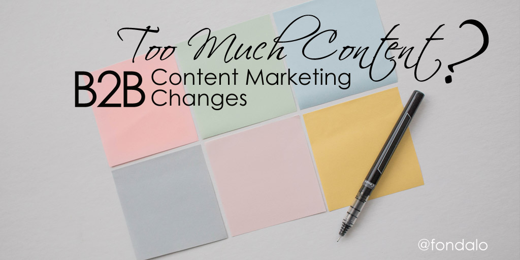 Is there too much B2B content? Statistics, data and quantity.