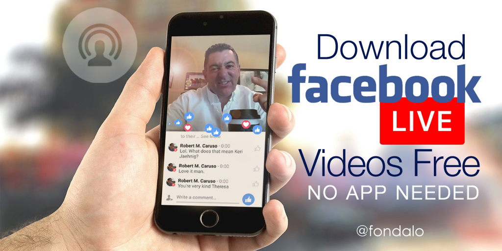 Download Facebook Live Video Without An App