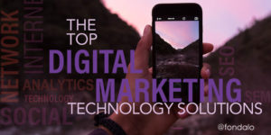 The top capabilities of digital marketing technology solutions that marketing executives consider critical