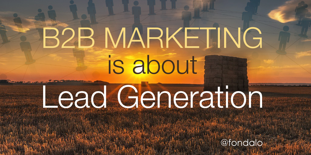 Lead generation is the priority of B2B marketing