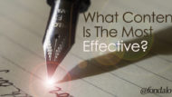 What Content Is The Most Effective?