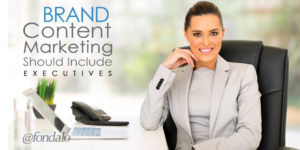 Should brand management executives be involved in content marketing?