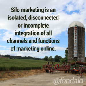 Silo marketing is a disconnected or limited use of digital marketing channels