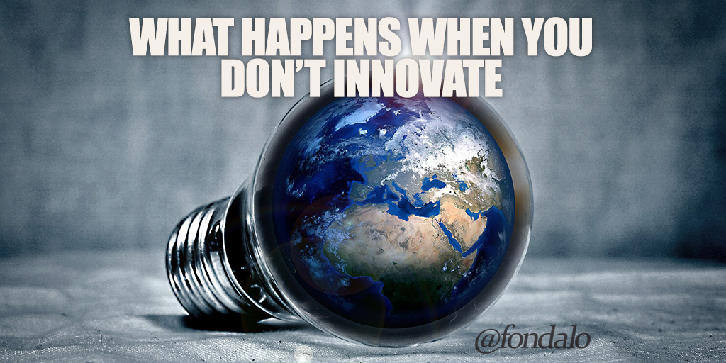 If a business isn't innovating it will collapse